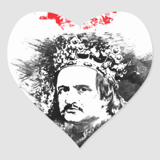 Krol Jagiello Heart Sticker