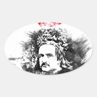 Krol Jagiello Oval Sticker