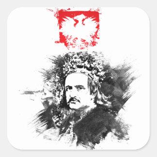 Krol Jagiello Square Sticker