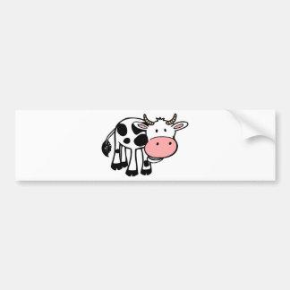 KROWA CUTE BABY COW FARM ANIMALS CARTOON HAPPY LIG CAR BUMPER STICKER