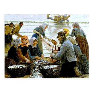 Kroyer - Women and Fishermen of Hornbaek Postcards
