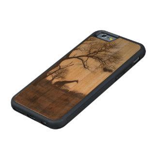 Kruger Giraffe Carved Cherry iPhone 6 Bumper Case