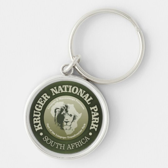 Kruger National Park Silver-Colored Round Key Ring