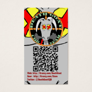 Krunzy.com and Death Goat Biz Cards with QR codes