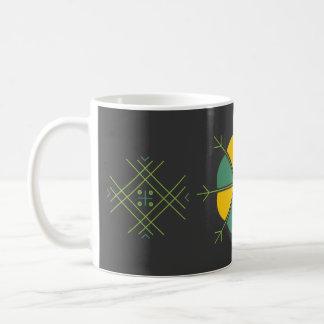 Kruze ar latviesu rakstiem kafijai basic white mug