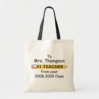 KRW #1 Teacher Custom Name and Date Tote Bag