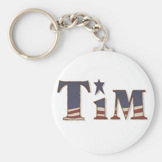 KRW Americana Name Keychain - Tim