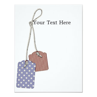 KRW Americana Tags 5x7 Custom Invitation