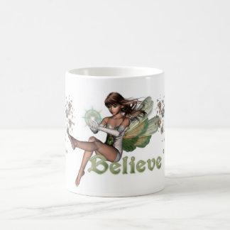KRW Believe in Faeries Brunette Coffee Mug