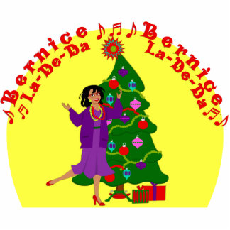KRW Bernice La De Da Funny Christmas Display Standing Photo Sculpture