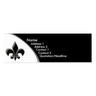 KRW Black Fleur De Lis Two Tone Business Cards