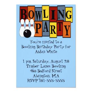 KRW Bowling Birthday Party 13 Cm X 18 Cm Invitation Card