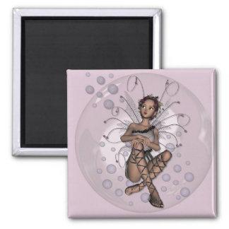 KRW Bubble Faery Square Magnet