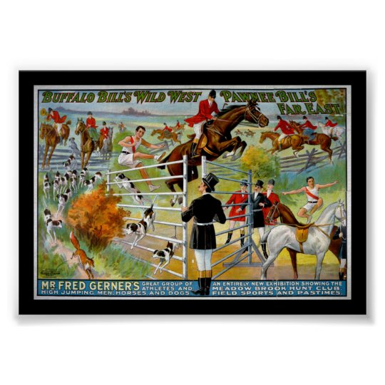 KRW Buffalo Bill and Pawnee Bill Show Poster