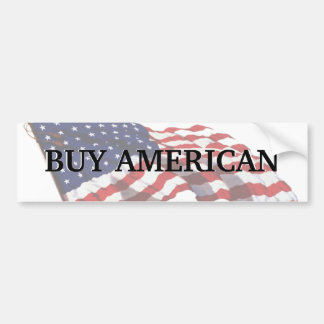 KRW Buy American Bumper Sticker