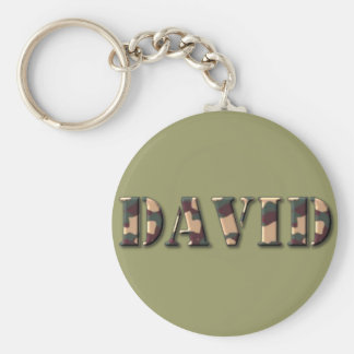 KRW Camoflage Name Keychain - David