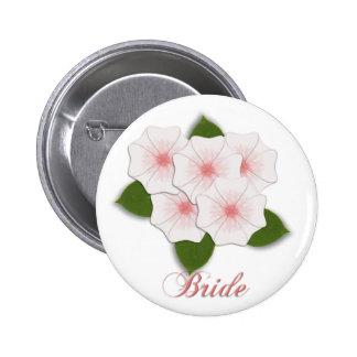KRW Cherry Blossom Bride Button