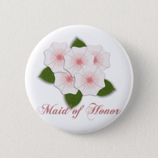 KRW Cherry Blossoms Maid of Honor 6 Cm Round Badge
