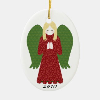 KRW Christmas Angel Dated 2010 Ornament