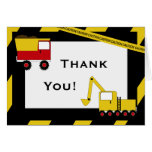 KRW Construction Trucks Thank You Notes Note Card