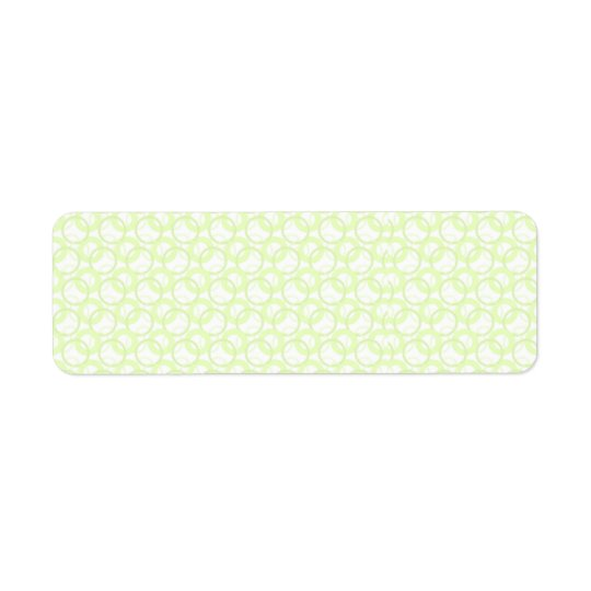 KRW Cool Lime Circle Blank Return Address Label