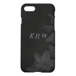 KRW Custom Monochrome Lilies Charcoal Phone Case