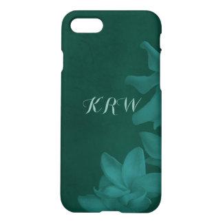 KRW Custom Monochrome Lilies Deep Teal Phone Case