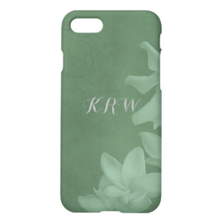 KRW Custom Monochrome Lilies Icy Teal iPhone Case