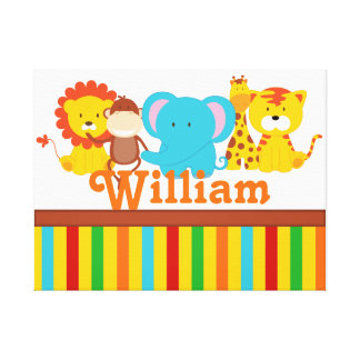 KRW Custom Name Baby Safari - Jungle Nursery Print