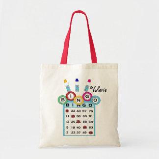 KRW Custom Text Colorful Bingo Tote Bag