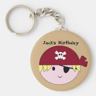 KRW Cute Custom Pirate Birthday Keychain