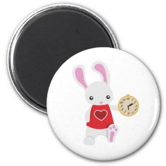 KRW Cute Wonderland White Rabbit Magnet