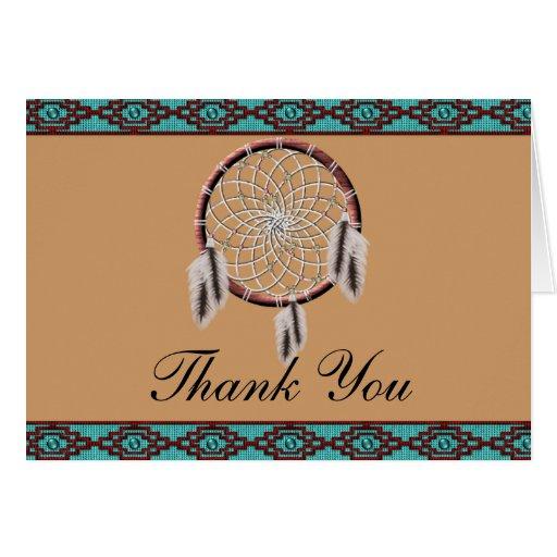 Krw Dreamcatcher Native American Thank You Card Zazzle