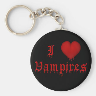 KRW Dripping Blood I Love Vampires Key Ring