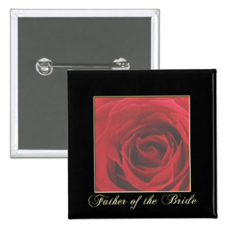 KRW Elegant Red Rose Father of the Bride Pin