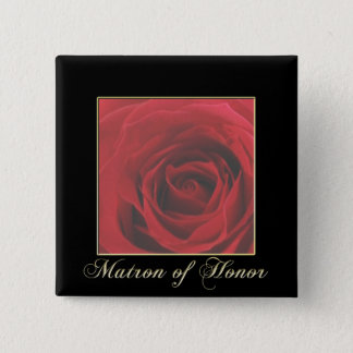KRW Elegant Red Rose Matron of Honor Pin