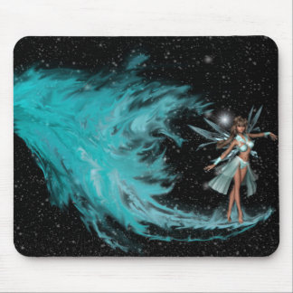 KRW Faery from the Fire - Birth of the Blue Faery  Mouse Pad