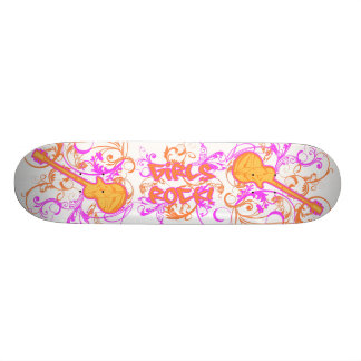 KRW Girls Rock Guitar Grunge 20 Cm Skateboard Deck