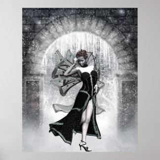 KRW Gothic Winter Faery Fantasy Art Poster