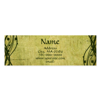 KRW Green Celtic Shamrock Parchment Custom Pack Of Skinny Business Cards