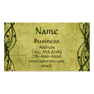 KRW Green Celtic Shamrock Parchment Custom Pack Of Standard Business Cards