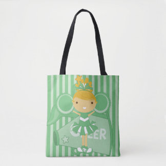 KRW Green Cheerleader All Over Print Tote