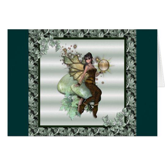 KRW Green Leaf Faery Card