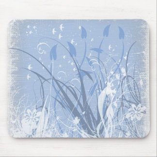 KRW Grunge in Blue Take 2 Mouse Pad