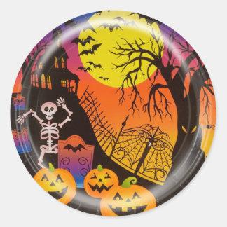KRW Happy Halloween Haunted House Sticker