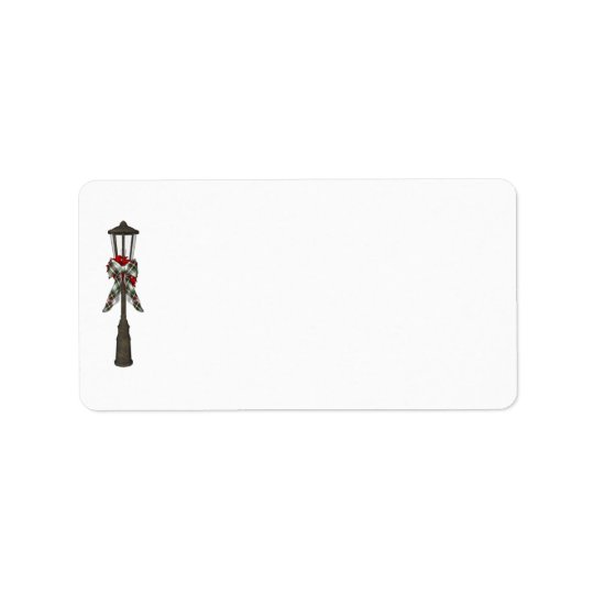 KRW Holiday Lamp Post Address Blank Label