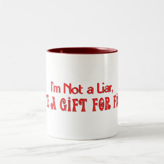 KRW I Have a Gift for Fiction Funny Two-Tone Mug