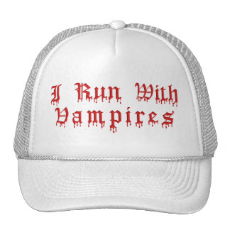 KRW I Run With Vampires Dripping Blood Mesh Hat