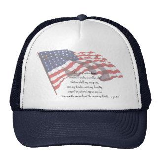 KRW J F Kennedy Quote Trucker Hats