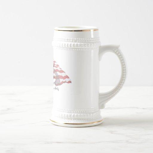 KRW JFK Quote Stein Coffee Mug
